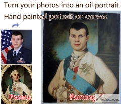 Custom oil portrait-Gentleman