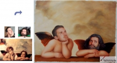 Custom oil portrait-Angels