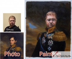 Custom oil portrait-Perfect general