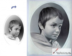 Custom Child Portrait-Boy