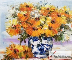Palette knife flowers