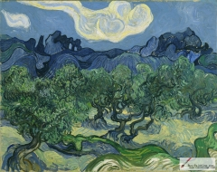 Olive Trees with the Alpilles in the Background, 1889, Museum of Modern Art, New York