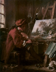 Self-portrait in the Studio, 1720