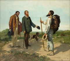 The Meeting (Bonjour, Monsieur Courbet), 1854