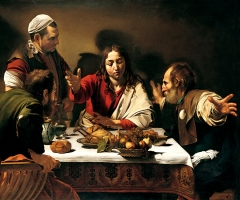 Supper at Emmaus, 1601.