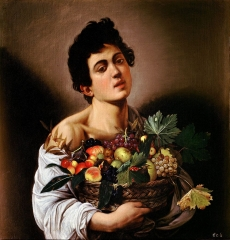Boy with a Basket of Fruit, 1593–1594.