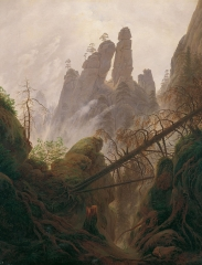 Rocky Landscape in the Elbe Sandstone Mountains by Caspar David Friedrich, between 1822 and 1823