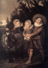 Three Children with a Goat Cart, c. 1620