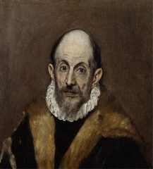 Portrait of a Man (presumed self-portrait of El Greco), c. 1595–1600