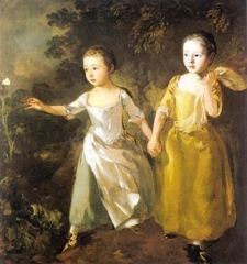 The Painter`s Daughters Chasing a Butterfly (1756)