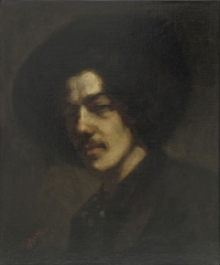 Portrait of Whistler with Hat (1858)