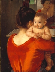 Woman in a Red Bodice and Her Child, c.1896