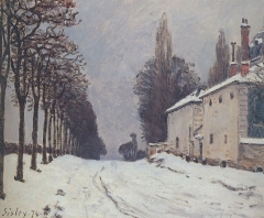 Snow on the Road Louveciennes, 1874