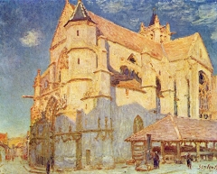 Church in Moret, 1889