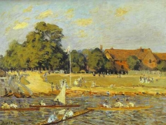 Regatta at Hampton Court, 1874