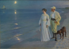 Summer Evening at Beach – The Artist and his Wife, 1899