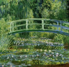 Water Lilies and the Japanese bridge,1897-Claude Monet