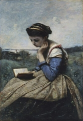 A Woman Reading, 1869-1870