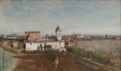La Trinité-des-Monts, seen from the Villa Medici, 1825–1828