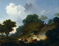 Landscape with Shepherds and Flock of Sheep, c. 1763-65