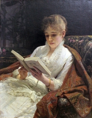 Portrait of a woman reading, 1881
