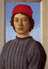 Portrait of a young man with red hat, c. 1485