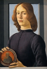 Portrait of a young man holding a medallion c. 1480–1485