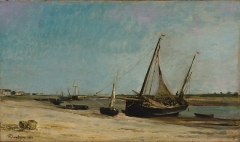 Boats on the Seacoast at Étaples, 1871