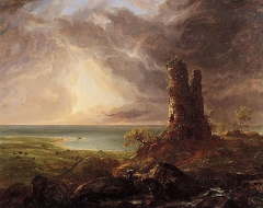 Romantic Landscape with Ruined Tower (1832–36)