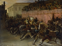 Riderless Racers in Rome, 1817