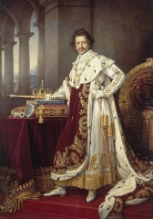 King Ludwig I in his Coronation Robes 1826