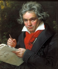 A portrait of Ludwig van Beethoven, 1820