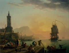 A Calm at a Mediterranean Port 1770-80s