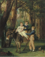The Levett Children. John, Theophilus and Frances Levett, Wychnor, Staffordshire, November 1811