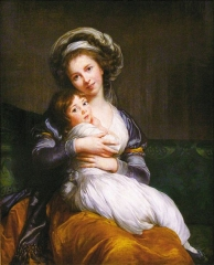Self-portrait with her daughter Jeanne-Lucie, 1786