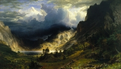 Storm in the Rocky Mountains, Mount Rosalie (1866)