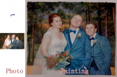 Family Portrait, Custom Oil Portrait, Hand Painted Portrait Painting on Canvas, Original Oil Painting from Photo