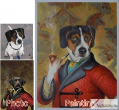 Custom oil portrait-Pet Portrait